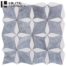 china marketplace pebbl oval mosaic tile white mix grey color for decoration bedroom