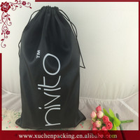 Hot Sale Popular Large Drawstring Custom Satin Dust Bag for Handbags