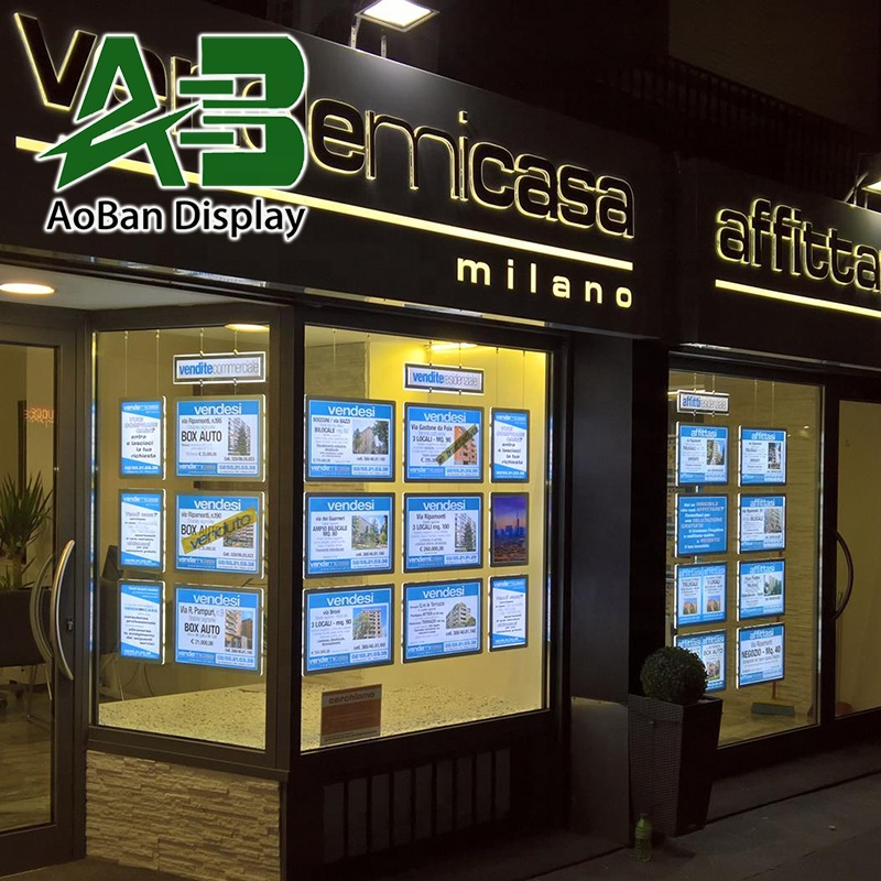 LED Window Display for Real Estate Agent, Restaurant, Shop Front Sign Advertising <strong>Light</strong> <strong>Box</strong>