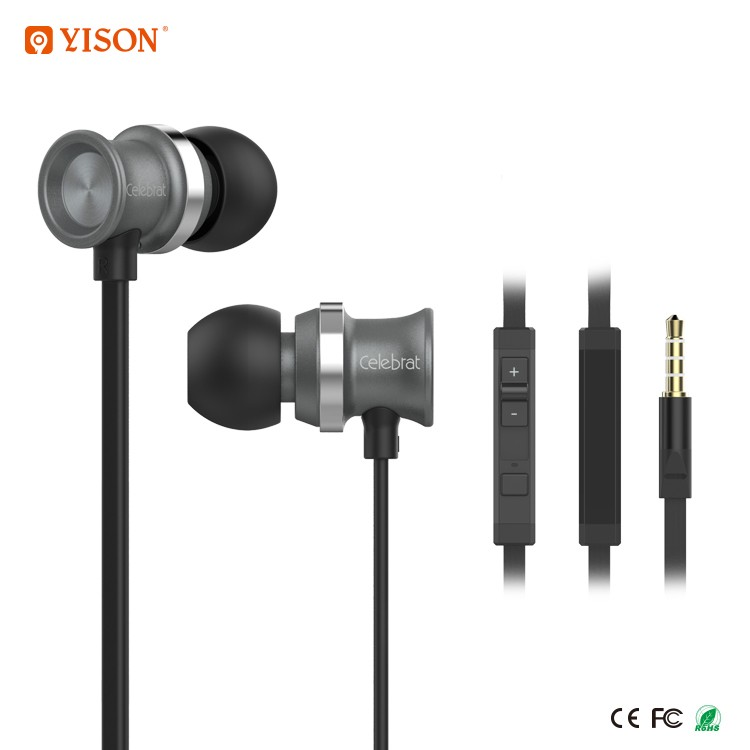 YISON D7 3.5MM Wired Earphone In Ear Stereo with Mic Anti Noise Earphone Headphone