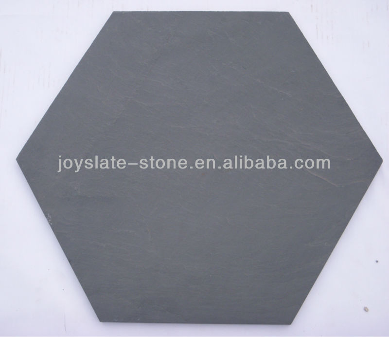 Natural slate hexagon paver