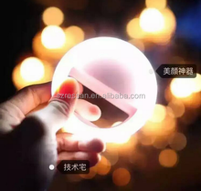 LED Clip flash selfie light in ring shape jinbei flash light 24led ring light smartphone 710mah rechargeable