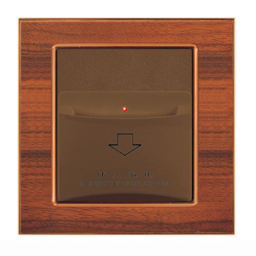 energy saving key card power switch for hotel or car with wooden/Customized panel