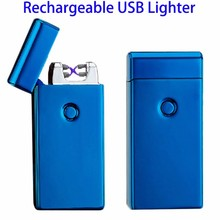 New Arrival USB Electronic Lighter Round Flameless Lights Windproof Fashion