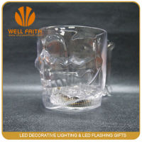Best seller led flashing cup,led flashing skull glass