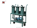 Mobile Oil Filtering Machine with Oil Flow Meter, Mini Waste Oil Purification Machine