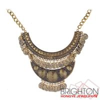 Fashion Coin Style 22k Gold Kundan Necklace N6-9874-6750