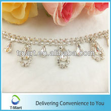 Wholesale Noble Necklin Crystal Bead Rhinestone Chain Trims