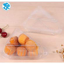 Round shape clear cake box with lid Cake container plastic High quality Food grade packing material