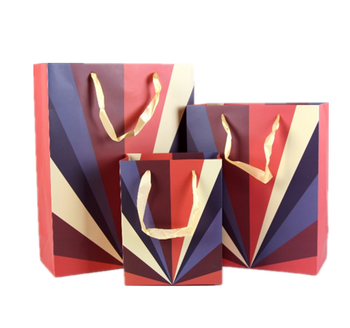 Fancy design Paper Bag In Stock Accept Customized Logo Printed Gift Shopping Paper Bag