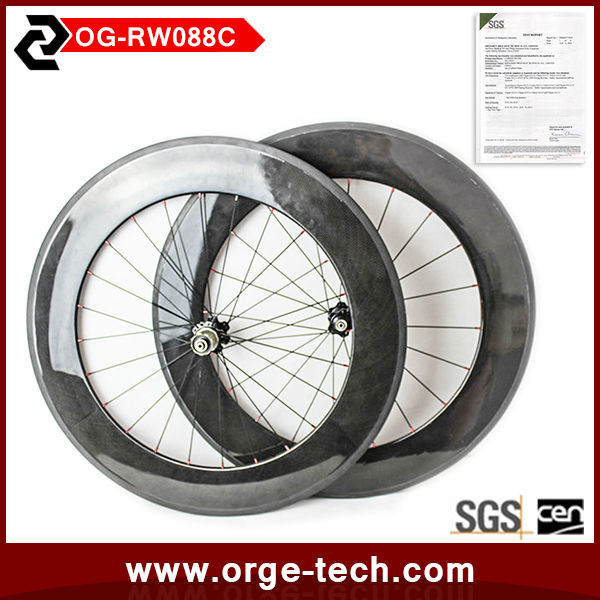 The ORGE China Manufacturer 88 Clincher Road Bike China Carbon Disc Wheels OG-RW088C.
