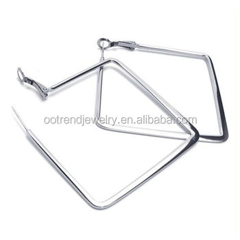 Geometric Box square shape earring to custom design