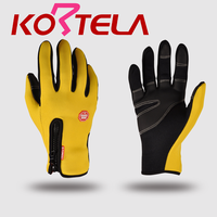 KORTELA outdoor sports gloves touch screen gloves Yellow diving cloth double line sewing riding bicycle gloves