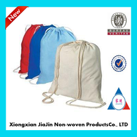 custome cotton drawstring laundry bags with logo