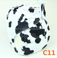 C11 YiWu ChangHe Manufacturer Free Sample 100% Polyester+TPU Washable Waterproof Infant Resuable Cloth Diaper