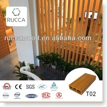 Rucca WPC/Wood Plastic Composite Interior Decorative Materials Timber Wood Tube Strips for Home Decoration100*35(3mm)