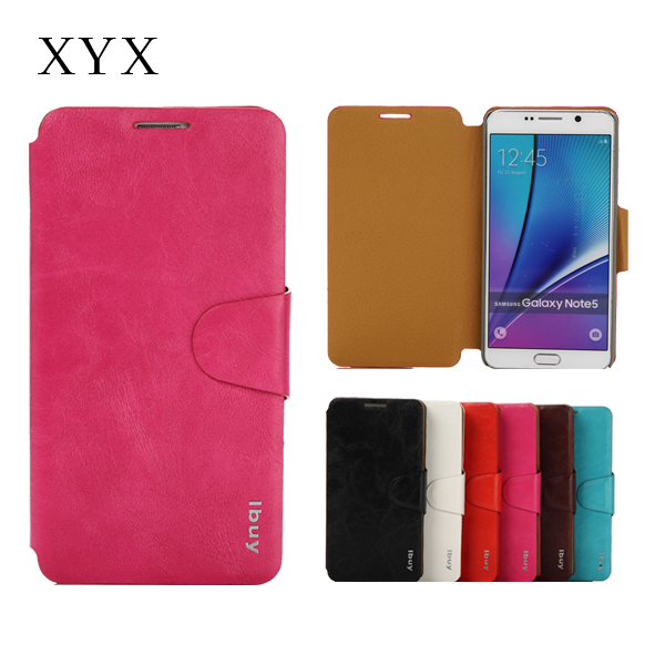 custom android mobile phone ultra slim pu case for note 5 cell phone