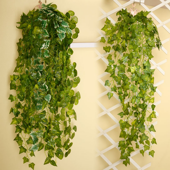 Green flower wall hanging artificial flowers grape vine artificial leaves for celling decoration