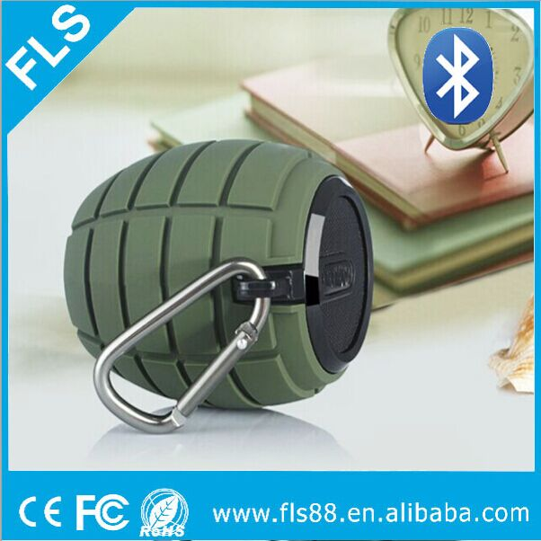 Grenade Bomb Shape Mini Portable Wireless Bluetooth Speaker For Music Play
