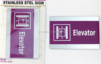 Stainless steel door sign plate for public place