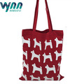 Quality Red Women Tote Bag with Strip Closure