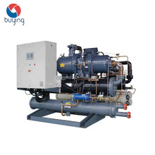 134.1kw water cooled screw cooler water chiller refrigeration system
