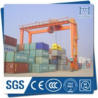 RTG Mobile rubber tyre quayside container crane manufacturers in china