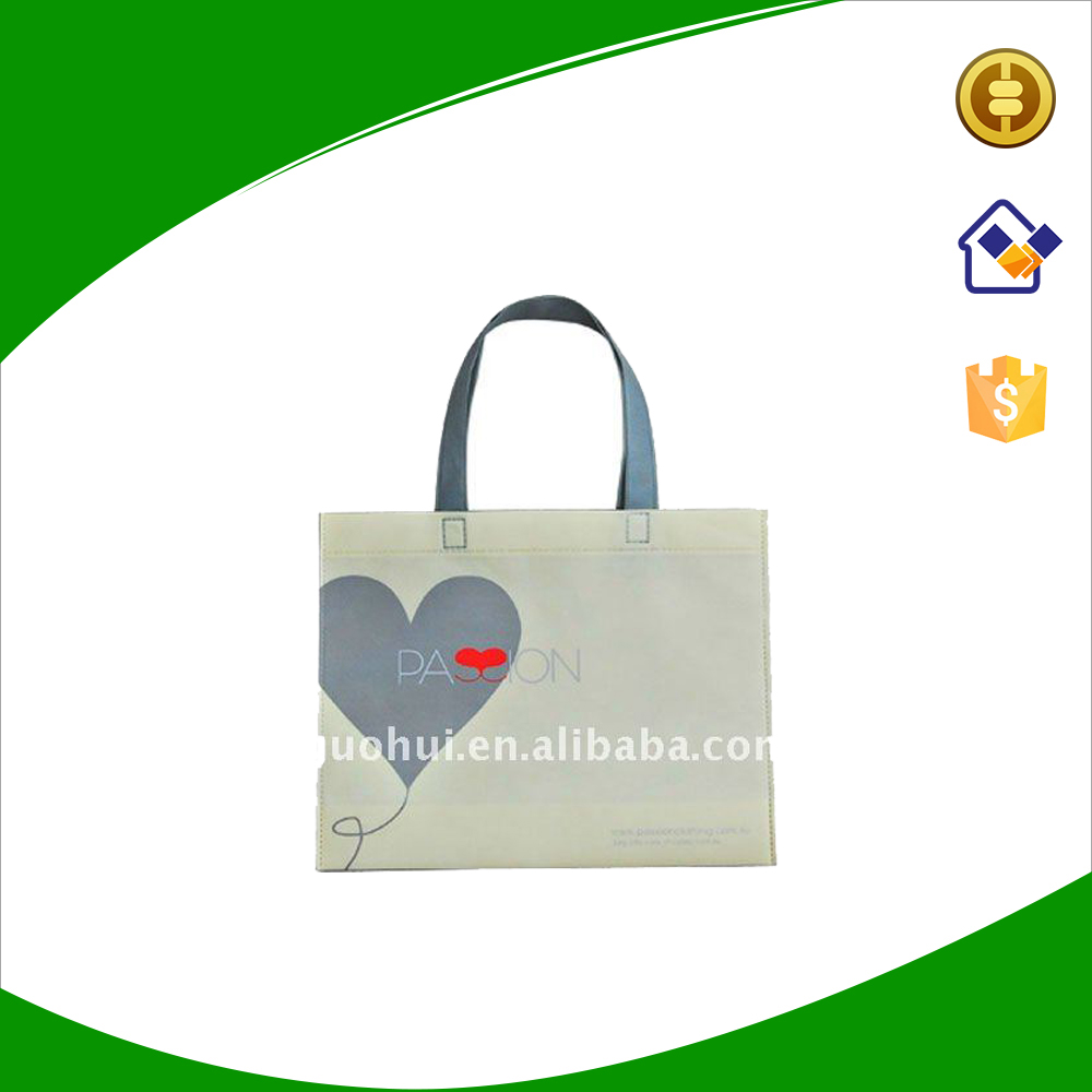 Cheap recycle non woven fabric shopping tote bags with custom logo for promotional