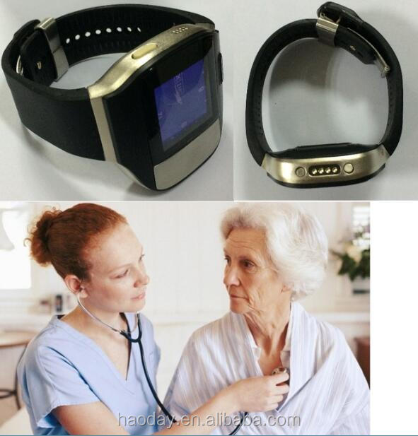 GPRS/GPS tracking watch device for senior personal bracelet gps , Real time heart beat/rate monitoring