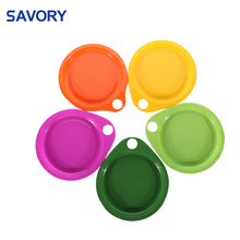 High quality multi-color custom children recycled plastic picnic plate