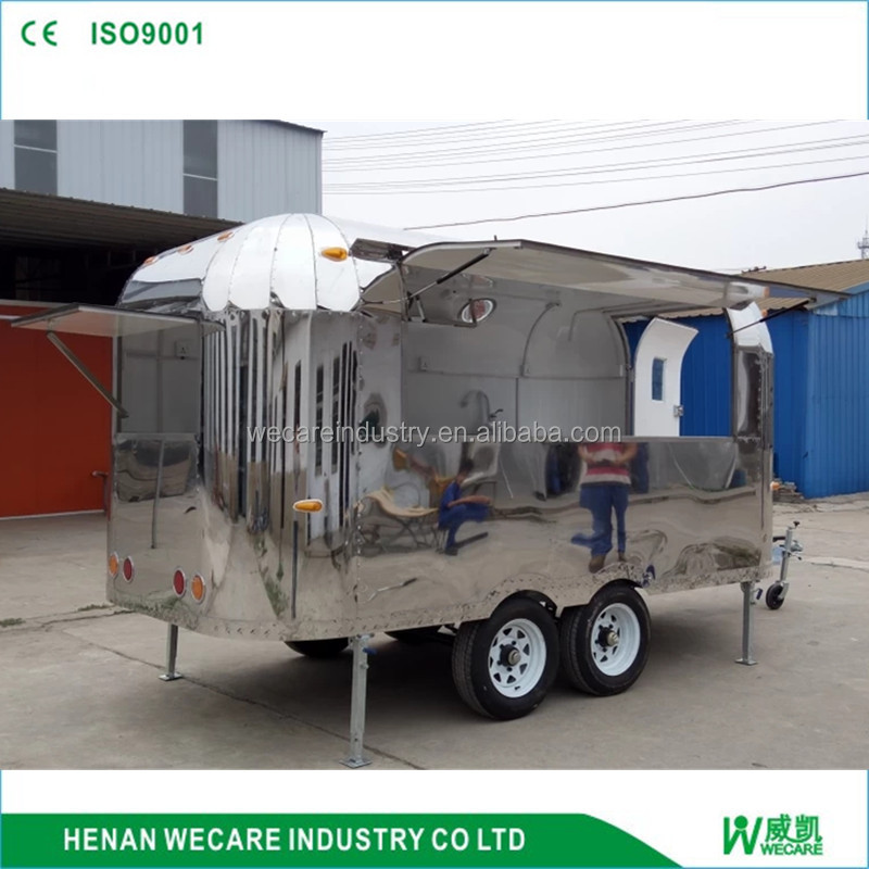 Multifunction food cart mobile juice bar, shaved ice machine food cart with equipments food trailer