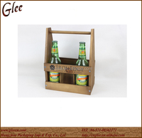 6 bottle of wood wine bottle carrier for sale