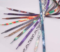Popular high quality cheap printed recycled polyester shoelaces
