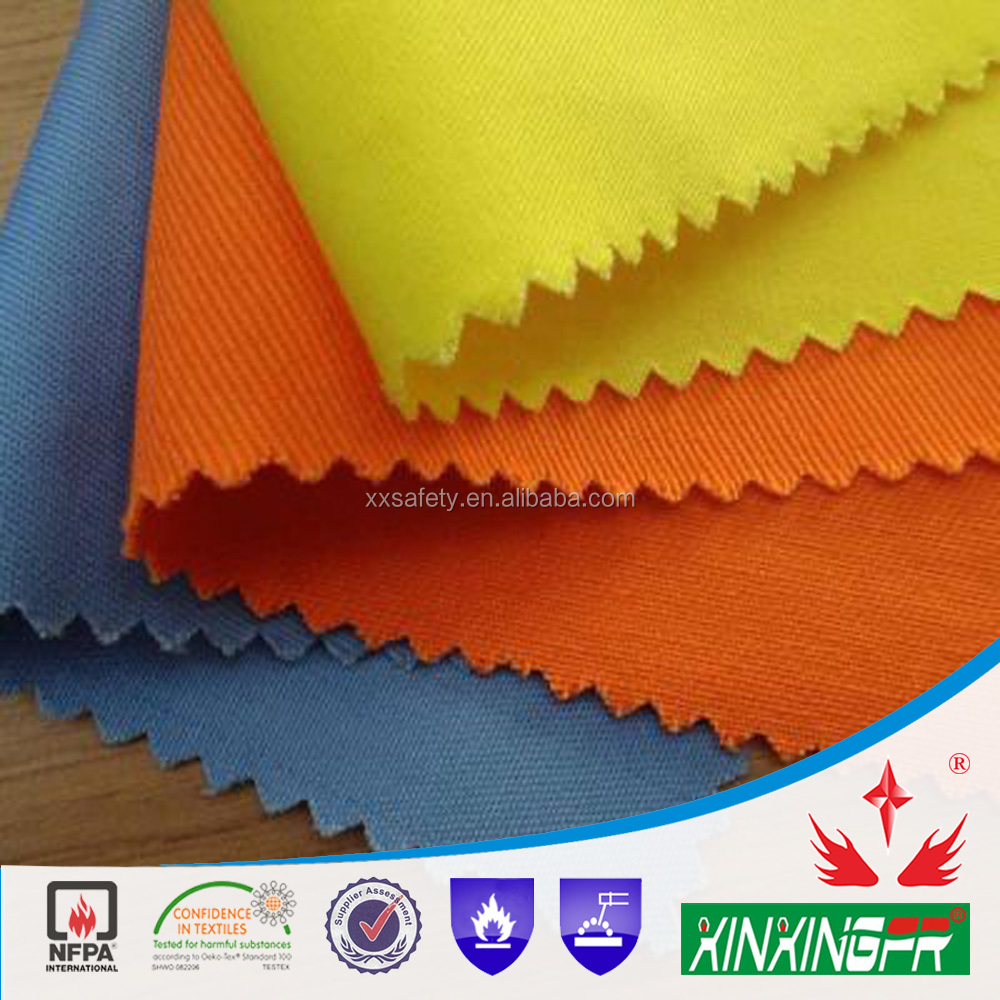260gsm 74%cotton 24%polyester2%antistaci flame retartant twill fabric