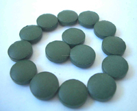 Dietary supplement 250mg round shape Spirulina tablet