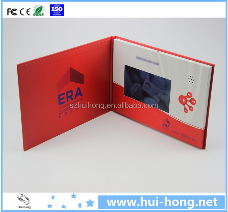 A4 A5 size Business promotional gift audio book quran digital audio card/book audio video greeting cards
