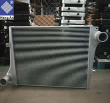 Factory direct price full aluminum truck charge air cooler intercooler for Volvo B12
