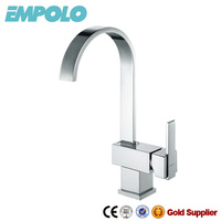 Deck Mounted Solid Brass Pull Down Kitchen Faucet 12 2102