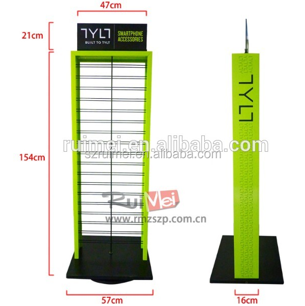 Retail professional shop display mobile phone accessory stand rack