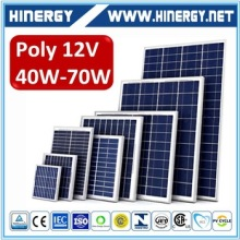 40w 50 Watt 60w 70W Poly Solar Panel The Best Quality And Price Solar Power Panel Module