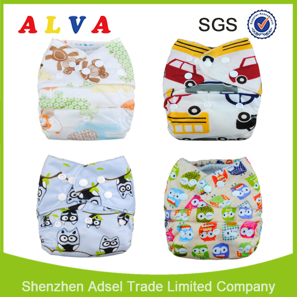 ALVA Baby Printed Diaper All in One Size Baby Diaper Covers