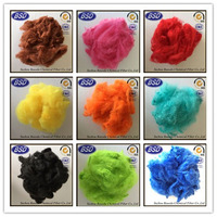 100% polyester material and raw pattern polyester staple fiber