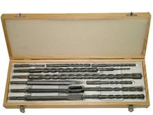 Marksman 12 piece SDS Drill Bit Set in Wooden Case