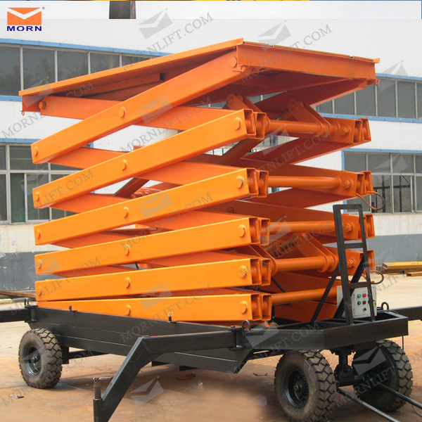 New type trailing scissor lift/small lifting devices