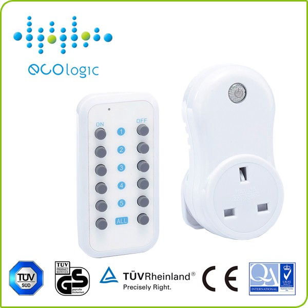 RF433MHz smart wireless remote control switch socket/plug