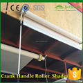 Custom window size Outdoor Crank handle blackout/clear roller blinds