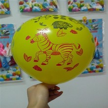 latex round balloon with jungle theme and animal printed
