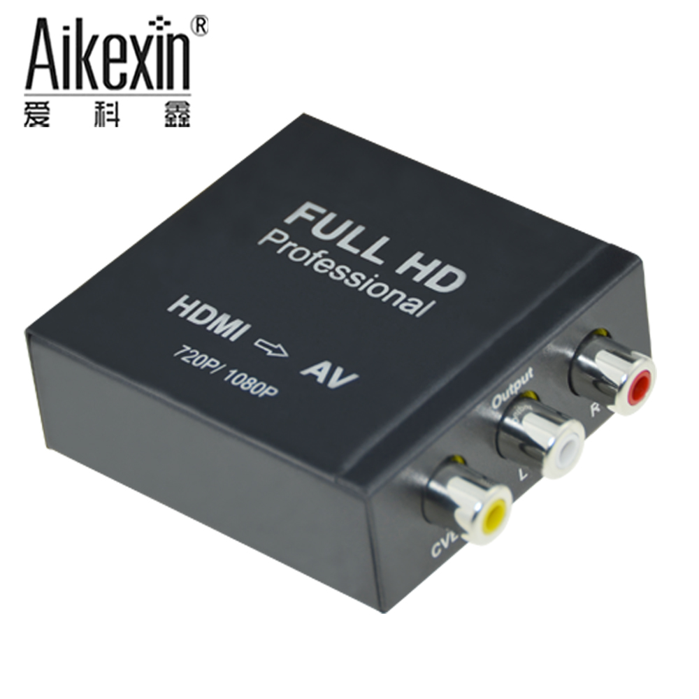 Aikexin HDMI to AV Converter In metal support hdmi 1.3 <strong>1080p</strong>,hdmi input av cvbs L/<strong>R</strong> output