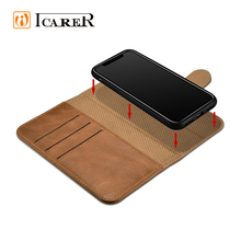 Fashion Luxury Filp Genuine Leather Card Holder Cell Cases Shockproof Cover Wallet Mobile Phone Case For Iphone X For I Phone