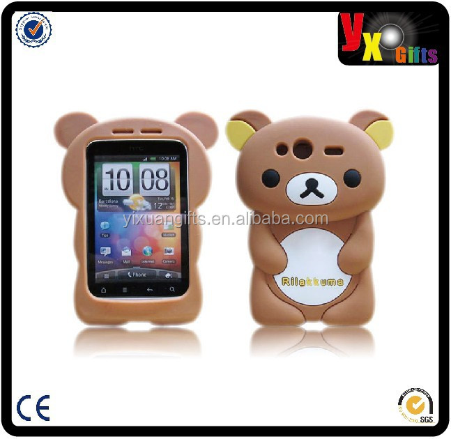3d rilakkuma bear silicone case for iphone 5 5s